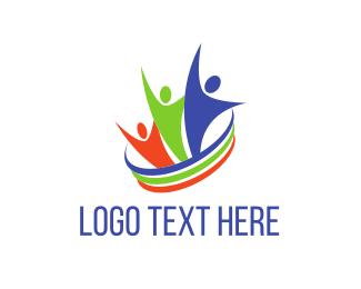 Raise - Colorful Community logo design