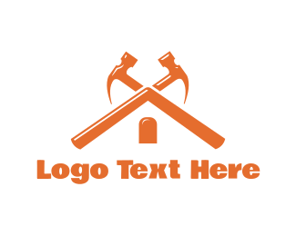 Carpentry - Hammer Roof logo design