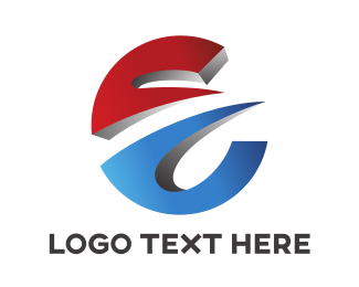 Modified - Round Dimensional E logo design