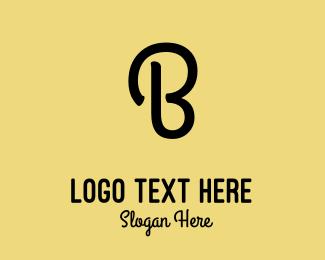 Honeybee - Cursive Black Letter B logo design