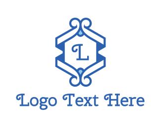 Boutique - Classic Blue Emblem logo design