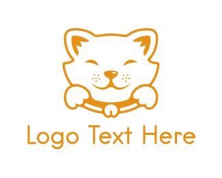 Please - Akita Puppy logo design