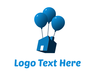Removalist - House Balloon logo design