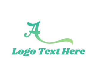 Mint Letter A logo design