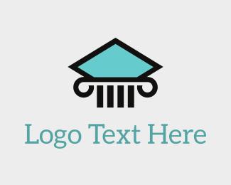 Pillar - Aqua Pillar logo design