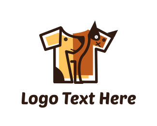 Black And Brown - Brown Pet Shirt logo design
