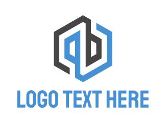Letter P - Abstract & Hexagonal logo design
