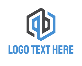 Abstract & Hexagonal Logo