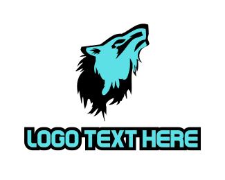 Sport Team - Blue Wolf logo design