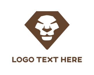 Brown Lion Face Logo