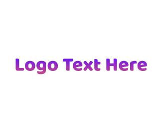 Gradient - Simple Gradient Purple logo design