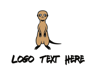 Rat - Cute Meerkat logo design