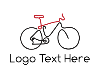 Cycling - Bike Outline logo design