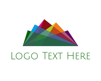 Mountain - Colorful Mountain Range logo design