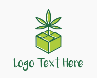 Edibles - Cannabis Box logo design