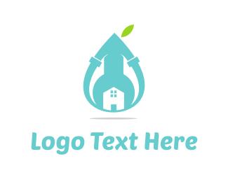 Plumb - Blue Plumbing  logo design