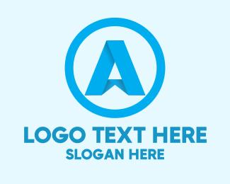 Folded - Folded Letter A logo design