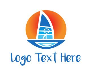 Sailboat Sunset Logo