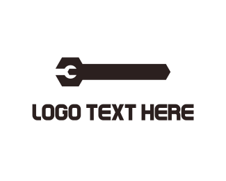 Tools - Black Wrench  logo design