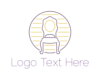 Interior Designer - Antique Chair logo design