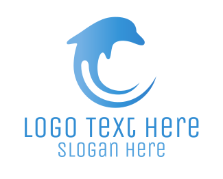 Submarine - Dolphin Wave logo design