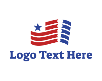 Patriot - Patriotic Ticket logo design