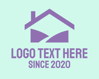 Roofing - Purple Home logo design
