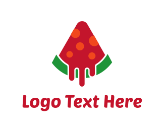 Lollipop - Watermelon Pizza logo design