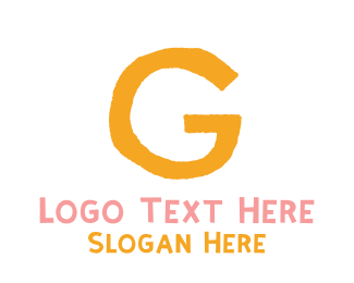 Handwritten - Preschool Orange Letter G logo design