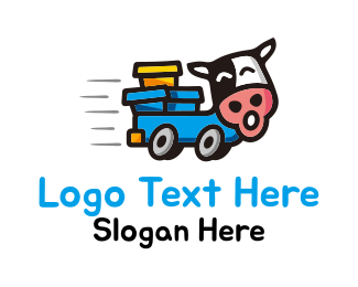 Moo - Cow Truck logo design