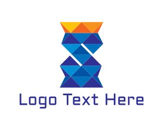 Crown - Diamond Letter S logo design