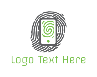 Finger - Phone Print logo design