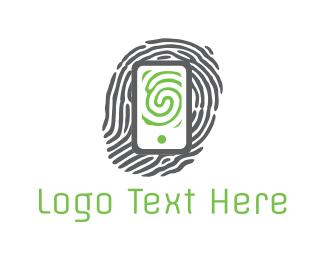 Finger - Phone Print logo design