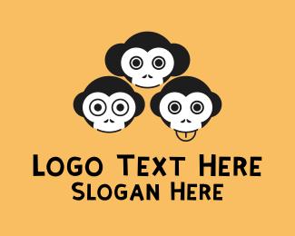 Humor - Funny Monkeys logo design