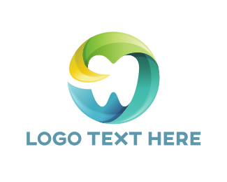 Teeth - Modern Dental Tooth Circle logo design