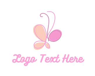 Kindness - Cute Butterfly logo design