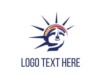 New York - Statue & Speedometer logo design