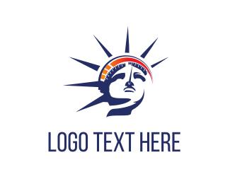Nyc - Statue & Speedometer logo design