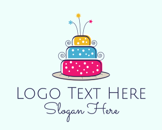 Colorful Cake Logo