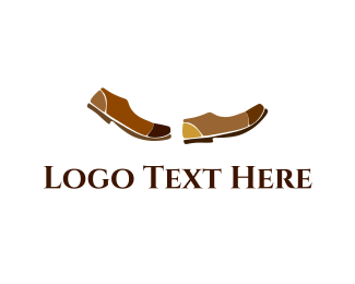 Leather - Brown Shoes logo design