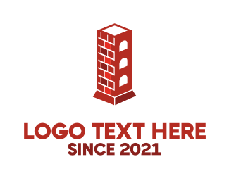 Bricklayer - Chimney Tower logo design
