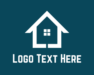 Roofing - White Home logo design