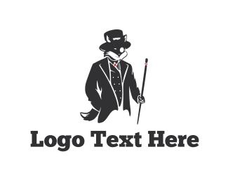 Monocle - Elegant Fox logo design