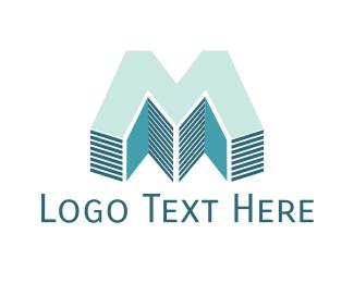 Builder - Realty Letter M logo design