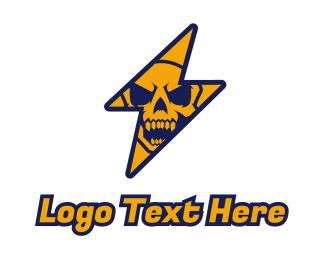 Lightning - Lightning Skull logo design