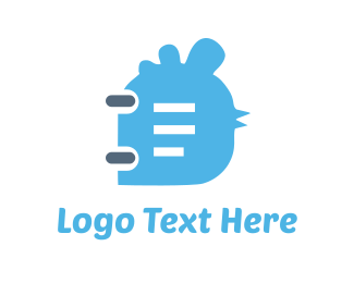 Note - Bird Notebook  logo design