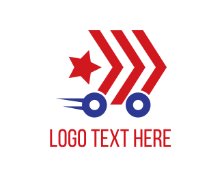 Delivery Service - Military Car logo design