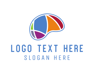 Psychology - Colorful Brain logo design
