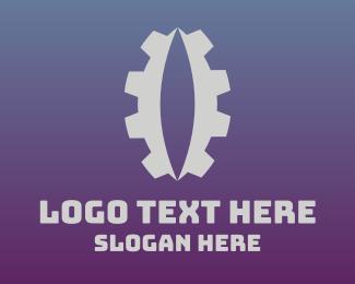 Machinery - Reptile Eye Gear logo design