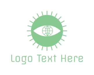 Eye - Sun Eye logo design
